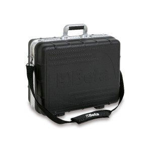 Tool case, made of thick polypropylene,  aluminium edged, empty