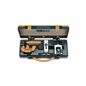Pipe cutter, deburrer and adjustable tube  flaring tool