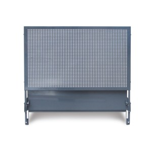 Perforated panel with brackets for mobile roller cab item C37