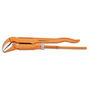 Pipe wrench, Swedish pattern,  45° flat jaws