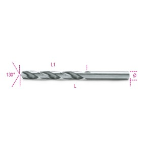 Twist drills with cylindrical shanks,  short series HSS entirely ground glossy  finishing