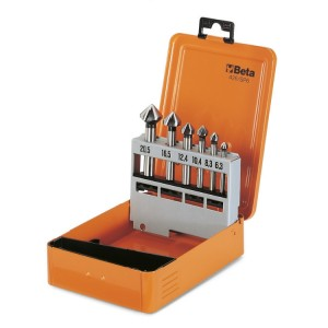 Set of countersinking cutters with three cutters, in ABS case