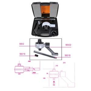 Torque multiplier, ratio 5:1,  and accessories in plastic case