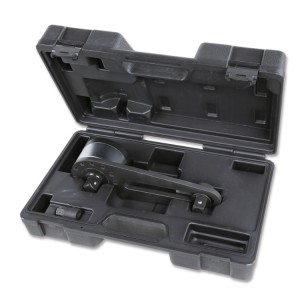 Torque multiplier for right-hand and left-hand tightening, in plastic case, ratio 3.8:1, with anti-wind up system