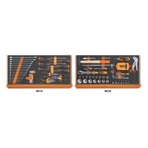 Assortment of 108 tools for universal use in EVA foam trays