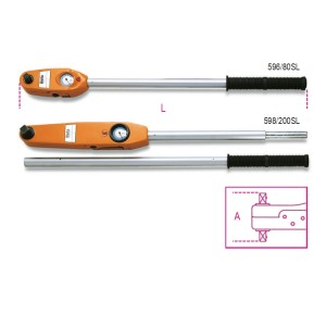 Direct reading torque wrenches for right-hand and left-hand tightening torque accuracy: ±4%