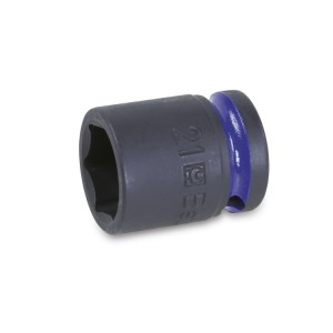 "Hexagon impact sockets,  1/2"" female drive, coloured,  standard series, phosphatized"