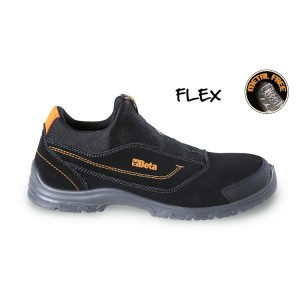 Action nubuck moccasin, waterproof, with anti-abrasion insert in toe cap area