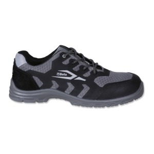 Mesh shoe, highly breathable, with anti-abrasion insert in toe cap area