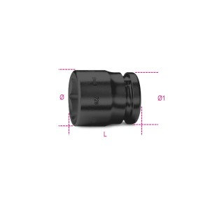 "Hexagon impact sockets,  3/4"" female drive,   standard series, phosphatized"