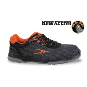 Fabric shoe, highly resistant to abrasion, with heel stability support
