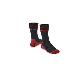 Elastic compression ankle-length socks