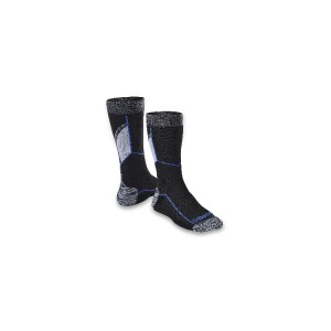 Ankle-length socks with breathable texture inserts