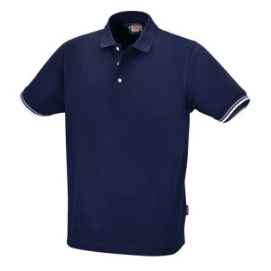 Technical three-button polo shirt