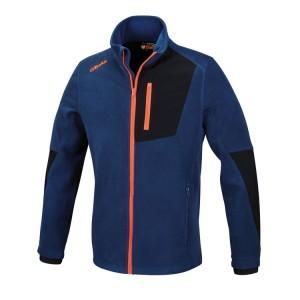 Stretch fleece sweater, long-zipped
