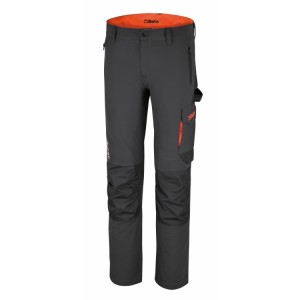 Stretch work trousers, lightweight, multipocket style Slim fit