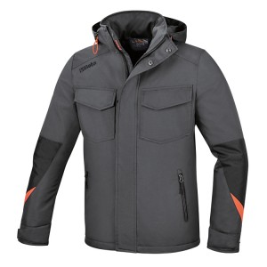 Anorak jacket made of Oxford polyester 300D waterproof, PU-coated, grey
