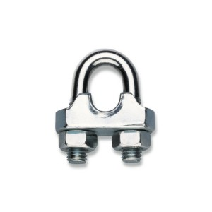 Wire rope clips, cold pressed steel body,  galvanized