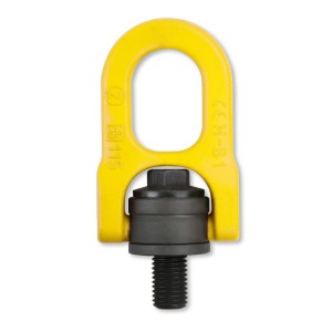 Adjustable lifting eyebolts, double swivel ring, high-tensile alloy steel