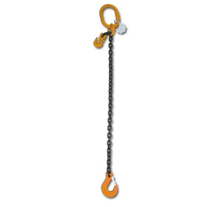 Lifting chain sling, 1 leg with clevis grab hook, grade 8