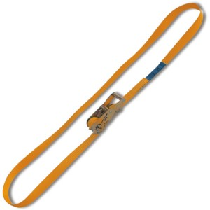 Ring ratchet tie down, LC 1500kg high-tenacity polyester (PES) belt