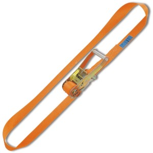 Ring ratchet tie down, LC 4000kg high-tenacity polyester (PES) belt