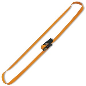 Ring ratchet tie downs, LC 750 kg, high-tenacity polyester (PES) belt