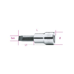 Socket drivers for slotted head screws