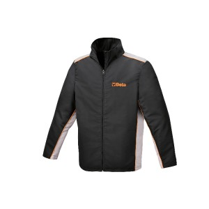 Jacket with 100% polyester exterior, waterproof treatment