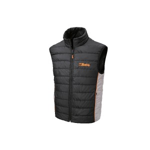 Sleeveless jacket with 100% polyester exterior, waterproof treatment, padding 100 g/m2, interior pocket