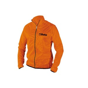 Waterproof windbreaker, long-sleeved, made of breathable fabric