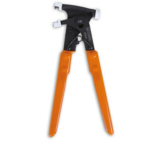 Pliers for removing wheel balancing adhesive weights
