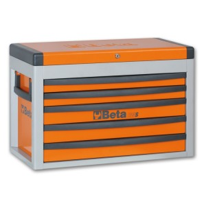 Portable tool chest with five drawers