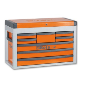 Portable tool chest with eight drawers
