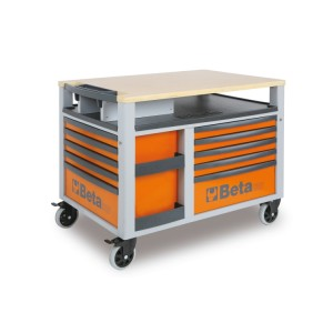 SuperTank trolley with worktop and ten drawers