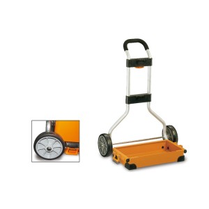 Tool holder trolley with telescopic aluminium handle