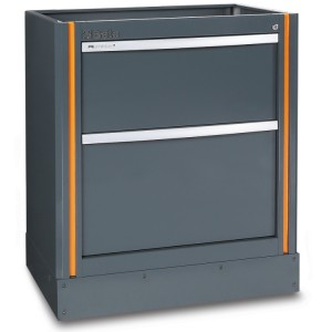 Fixed module with 2 drawers, for workshop equipment combination