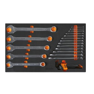 Soft foam tray with tool assortment