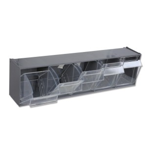 5-tray tool holder, made of plastic, with support