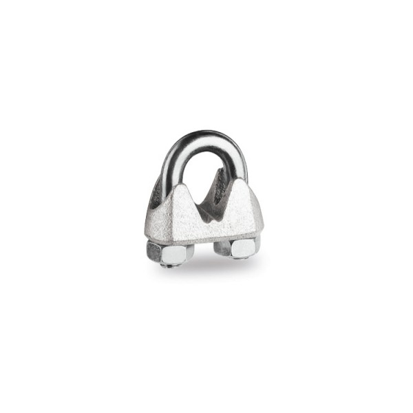 Wire rope clips, TELECOM type malleable cast iron body