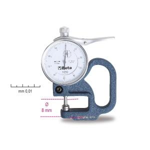 παχύμετρο με καντράν,  ανάγνωση 0.01 mm