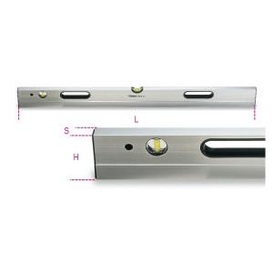 αλφάδια επιπεδότητας (μακριά)  από αλουμίνιο με 2 άθραυστα φιαλίδια ακρίβεια 1 mm/m