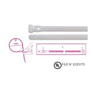 Nylon δεματικά καλωδίων επαναχρησιμοποιούμενα,  φυσικό χρώμα