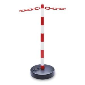 Κιτ φραγής για υβριδικά ή ηλεκτρικά αυτοκίνητα σε αναμονή για επισκευή. Αποτελείται από 4 κολώνες ύψους 90cm και 1 πλαστική αλυσίδα μήκους 25m.