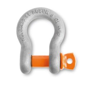 κλειδιά ανύψωσης ΣΤΡΟΓΓΥΛΑ, από χάλυβα υψηλής αντοχής,  με βιδωτό πείρο με κολάρο κορμός γαλβανισμένος με εμβάπτιση εν θερώ