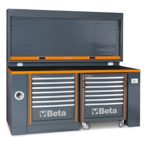 Workbench, for workshop equipment combination