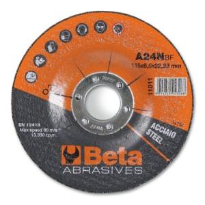 Discos abrasivos de desbaste para acero con centro embutido