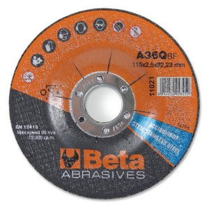 Discos abrasivos de corte para acero y acero inoxidable con centro embutido