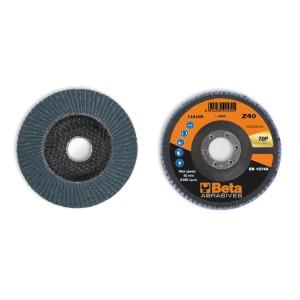Discos de láminas con tela abrasiva de circonio, soporte de fibra de vidrio, monolámina, perfil plano