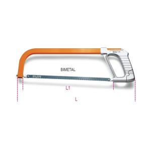 Arco de sierra, sistema para tensar  la hoja incorporado en el mango